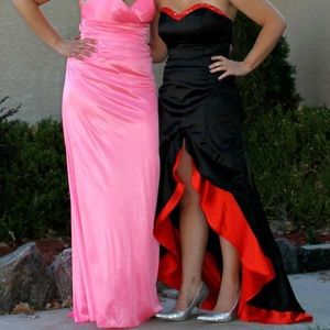 Dresses & Skirts - Black and red prom dress